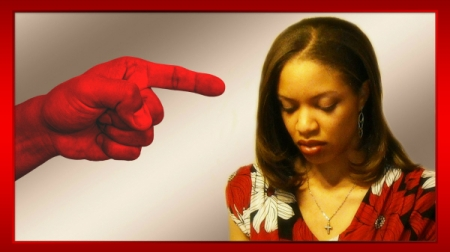 An angry, red finger pointing at me, Nadine